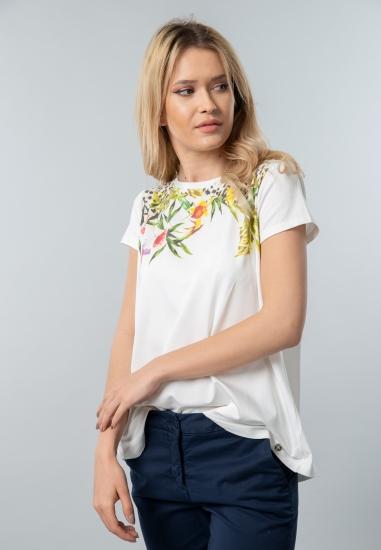 T-shirt damski z nadrukiem Chiara D'alba