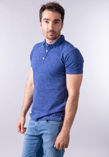 Wzorzysty t-shirt polo Navigare