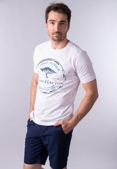 Męski t-shirt z nadrukiem Fynch Hatton