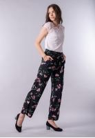 Spodnie damskie o luźnym kroju w kwiaty Street One