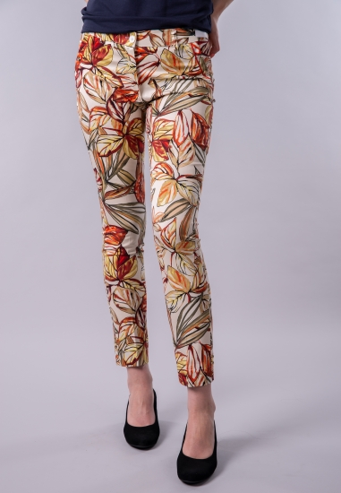 Wzorzyste spodnie damskie cygaretki Main&Land