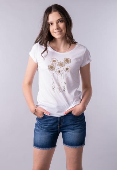 T-shirt damski z nadrukiem Lili Dudu