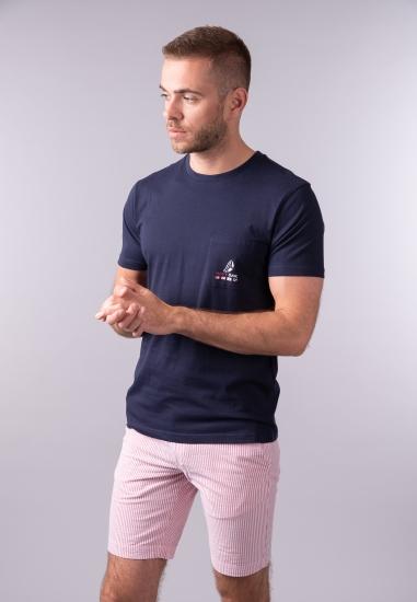 T-shirt męski z kieszonką...