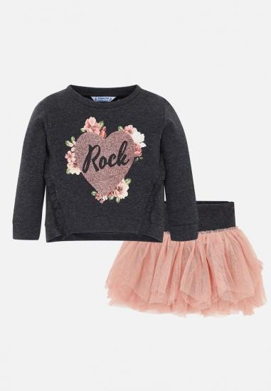 Komplet dziewczęcy spódnica tiulowa + koszulka Mayoral