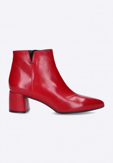 Czerwone damskie botki...