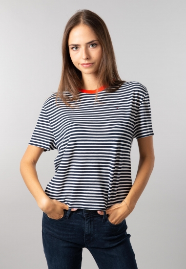 T-shirt damski w paski Tommy Jeans