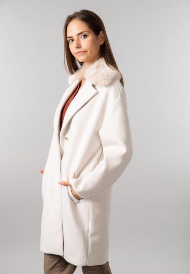 Elegancki płaszcz z futerkiem Trussardi Jeans