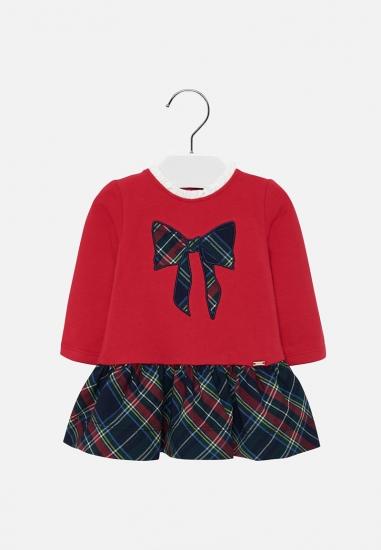 Sukienka z łączonych materiałów Mayoral baby