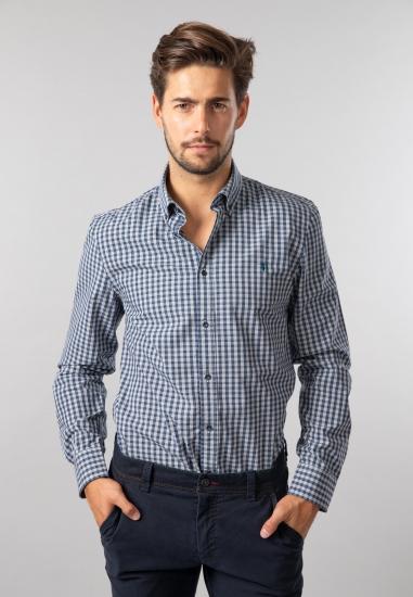 Koszula męska w kratkę regular fit Trussardi Jeans