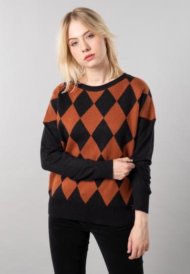 Sweter damski z domieszką...