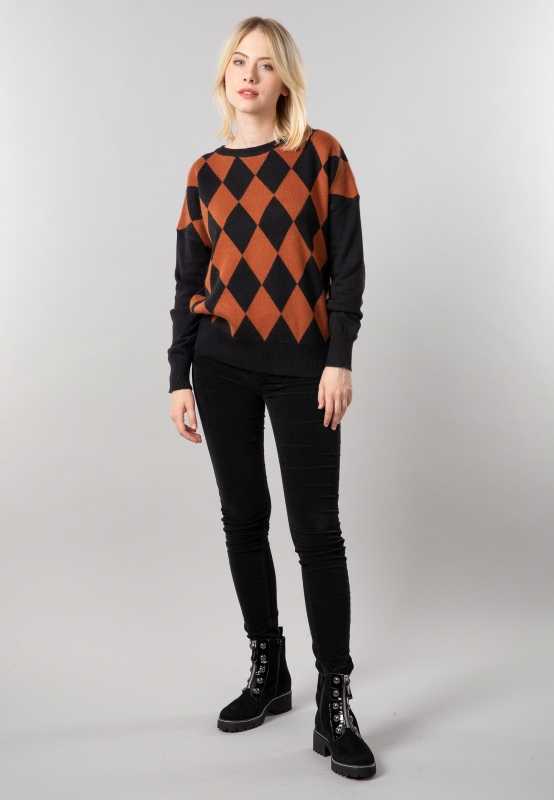 Sweter damski z domieszką angory Artigli