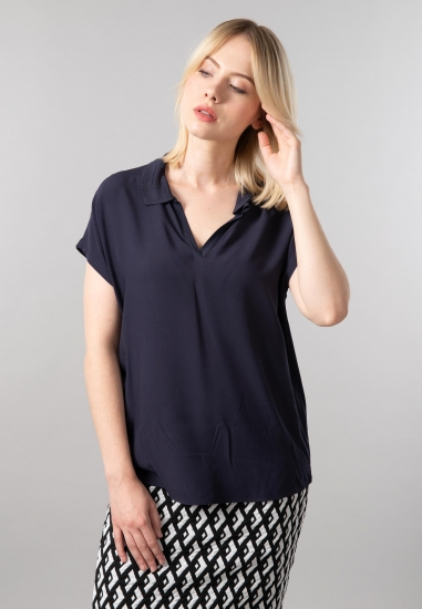 Wiskozowy t-shirt polo Gerry Weber