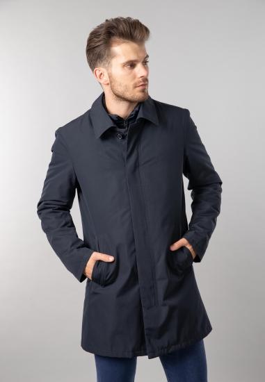 Płaszcz męski o prostym kroju Bugatti