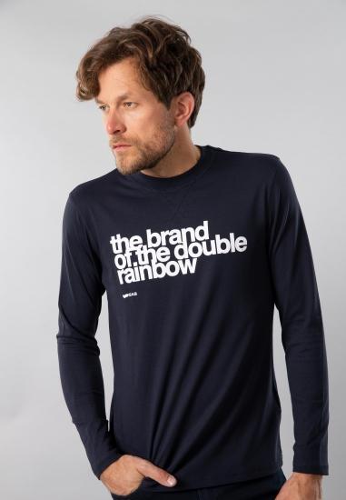 T-shirt męski z nadrukiem Gas - 007194 GRANAT