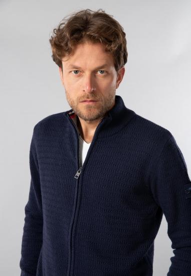 Rozpinany sweter ze stójką...