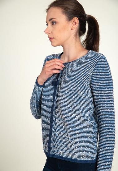 Żakardowy sweter BLUE ENEMY