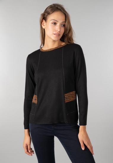 Sweter damski Gaia - 002CZARNY