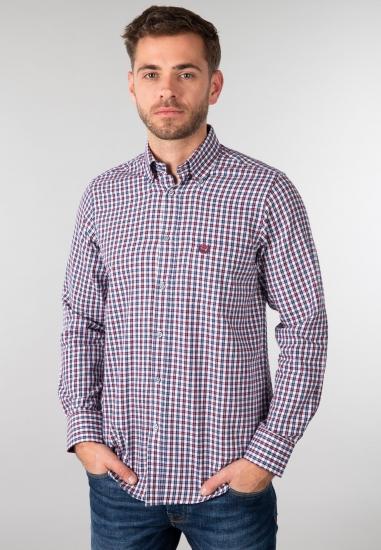 Koszula męska Ascot Sport - 00610 BORDO-GRANAT