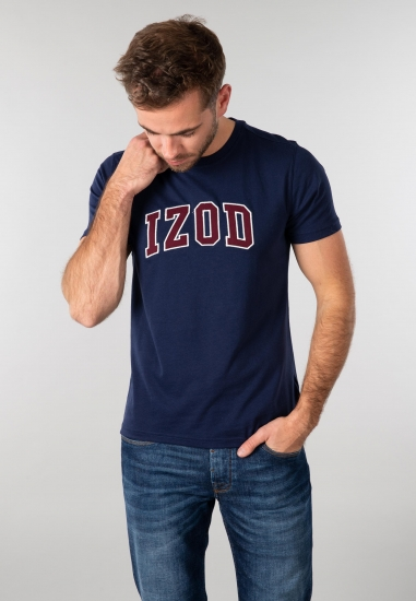 T-shirt męski z nadrukiem Izod
