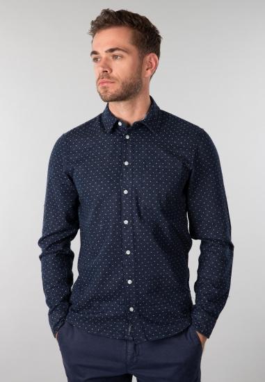 Koszula męska Blend - 00774645 GRANAT