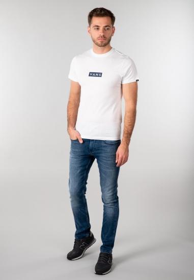 T shirt męski Vans - 001K9T1 BIALY-GRANAT