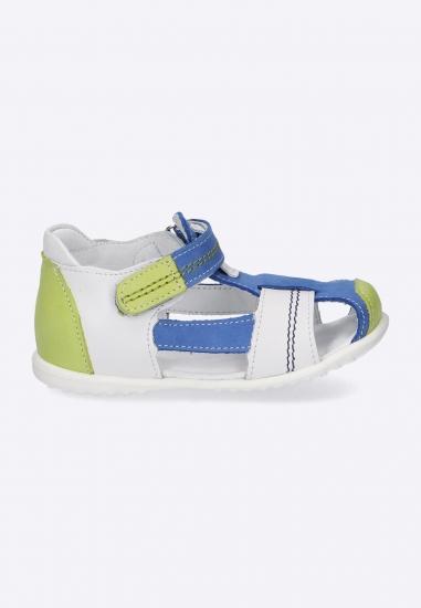 Kolorowe sandały na rzepy...