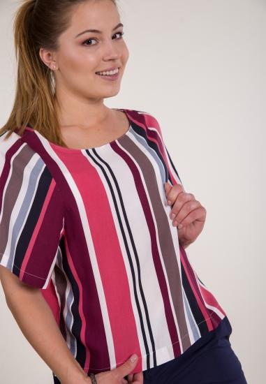 Kolorowa bluzka w paski JACQUELINE DE YONG