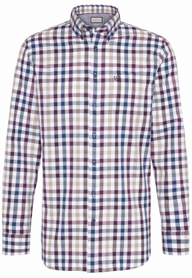 Koszula męska w kratę BUGATTI