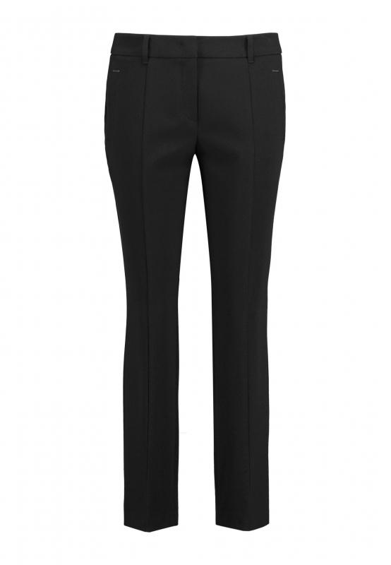 Materiałowe spodnie damskie z kantem TAIFUN