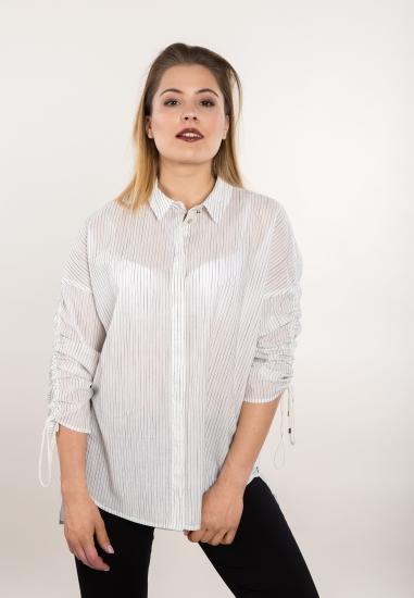 Koszula w pionowe paski...