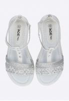 Sandały dziewczęce ze zdobieniem AGE KIDS