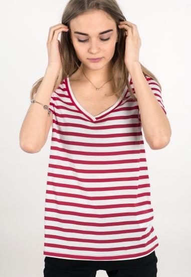 T-shirt w paski JACQUELINE...