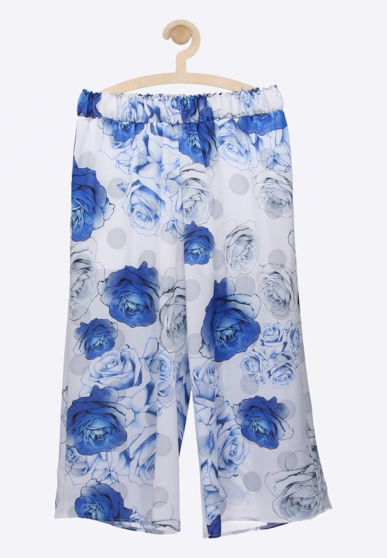 Spodnie culotte w kwiaty PEOPLE